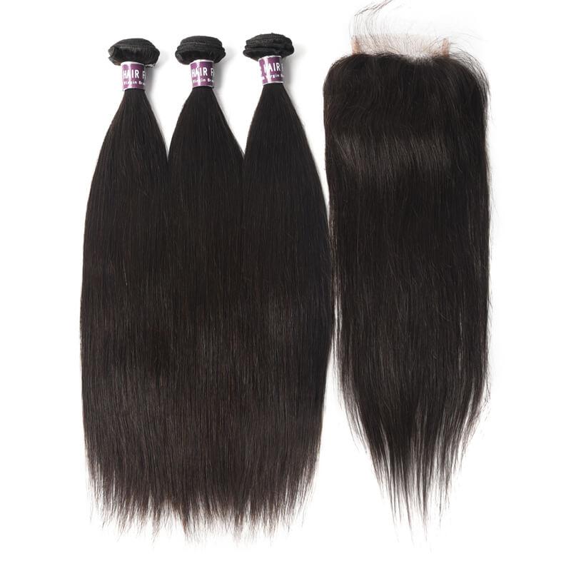 Virgin Brazilian Straight Hair Bundles