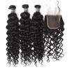 3 Bundles of Brazilian Water Wave Hair with Closure