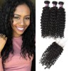 3 Bundles of Malaysian Curly Hair with Closure