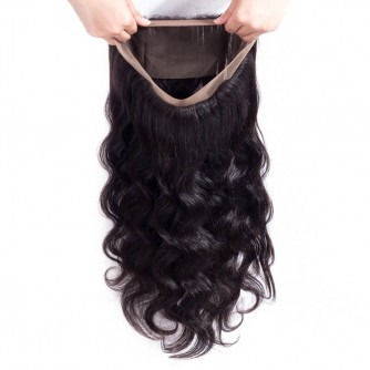 Virgin Indian Hair Body Wave 360 Frontal