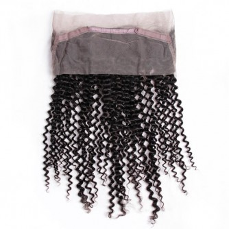 Virgin Indian Hair Kinky Curly 360 Frontal