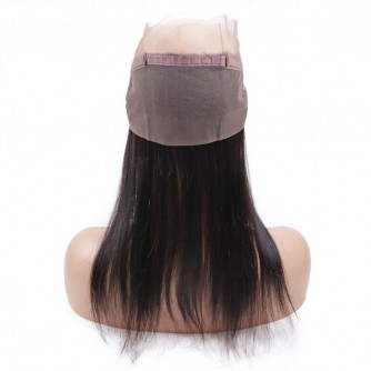 Virgin Indian Hair Straight 360 Frontal