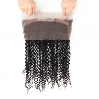 Virgin Malaysian Hair Deep Curly 360 Frontal