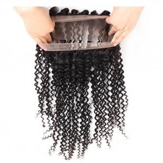 Virgin Peruvian Hair Deep Curly 360 Frontal