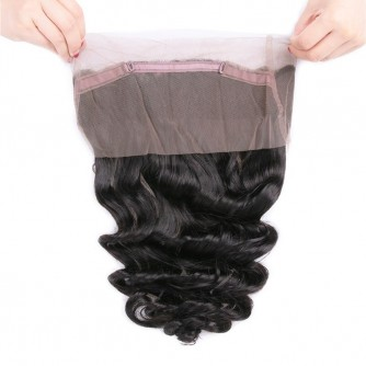 Virgin Peruvian Hair Loose Wave 360 Frontal