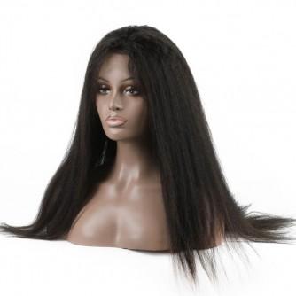 Indian Hair 360 Kinky Straight Human Hair Wigs