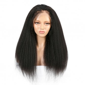 Indian Hair 360 Kinky Straight Human Hair Wigs