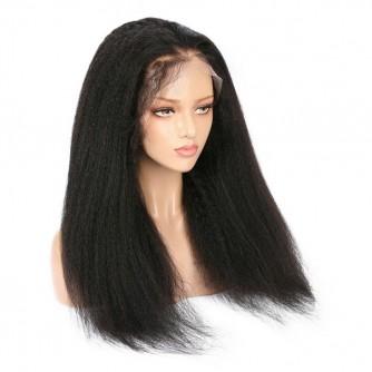 Brazilian Virgin Hair 360 Kinky Straight Wigs