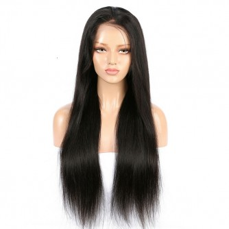 Straight Brazilian Virgin Hair 360 Natural Looking Wigs 150 density 16 Inches