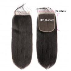 5x5 Straight Lace Closure