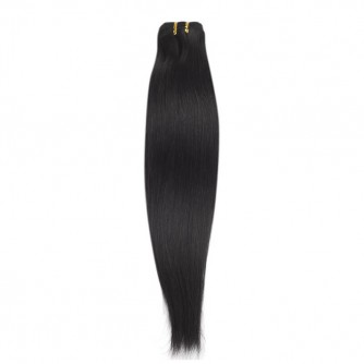 Brazilian Remy Hair Straight #1b Nature Black