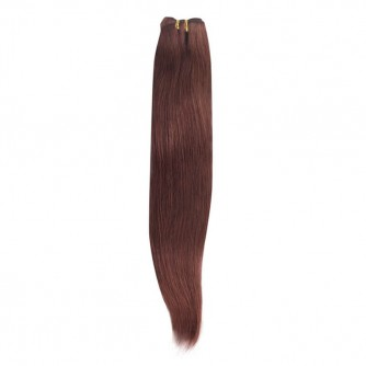 Brazilian Remy Hair Straight #33 Dark Auburn