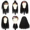 Brazilian Virgin Hair Head Band Afro Curly Wigs