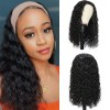 Brazilian Virgin Hair Water Wave Headband Scarf Wigs