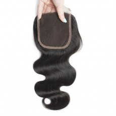 Middle Part Indian Body Wave Lace Closure