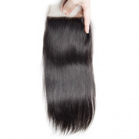 Middle Part Indian Straight Lace Closure