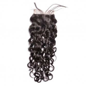 Middle Part Indian Water Wave Lace Closure