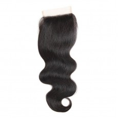 Middle Part Malaysian Body Wave Lace Closure