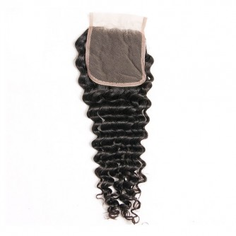 Middle Part Malaysian Deep Wave Lace Closure