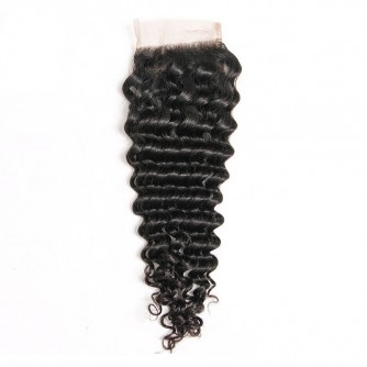 Three Part Malaysian Deep Wave Lace Closure