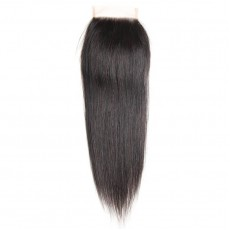 Middle Part Malaysian Straight Lace Closure