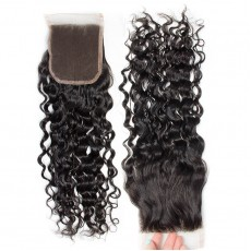 Middle Part Malaysian Natural Wave Lace Closure
