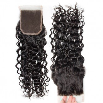 Middle Part Malaysian Water Wave Lace Closure