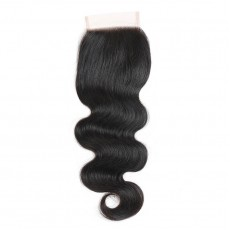 Middle Part Peruvian Body Wave Lace Closure