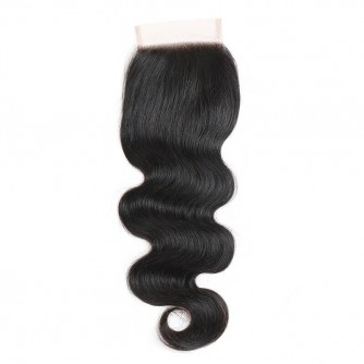 Three Part Peruvian Body Wave Lace Closure