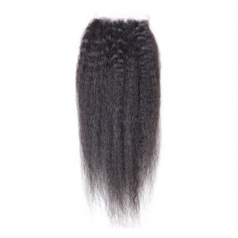 Three Part Peruvian Kinky Straight Lace Closure