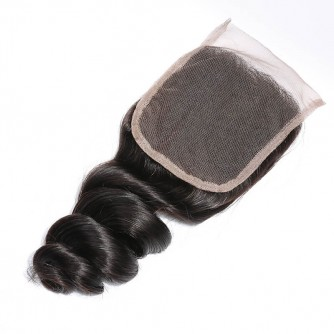Three Part Peruvian Loose Wave Lace Closure