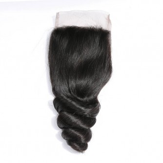 Middle Part Peruvian Loose Wave Lace Closure