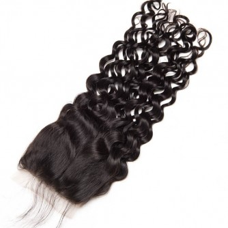 Middle Part Peruvian Water Wave Lace Closure