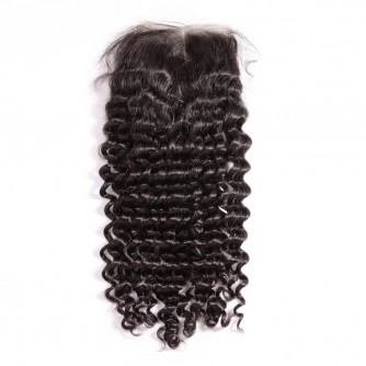 Middle Part Brazilian Curly Lace Closure