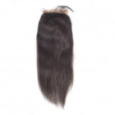 Middle Part Brazilian Straight Closure