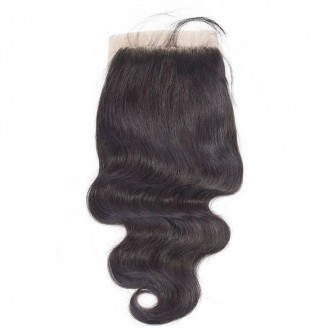 Middle Part Brazilian Body Wave Closure