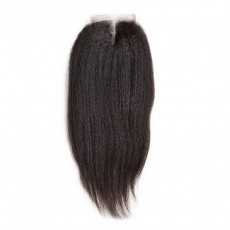 Middle Part Brazilian Kinky Straight Closure
