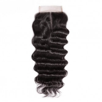 Middle Part Brazilian Loose Curly Closure