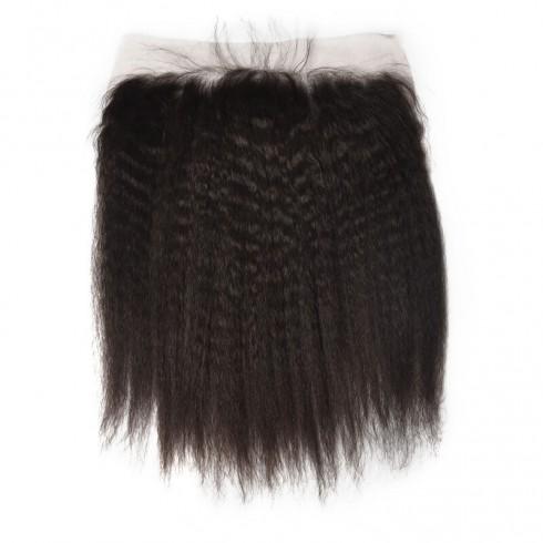 Brazilian Virgin Hair Kinky Straight Lace Frontal