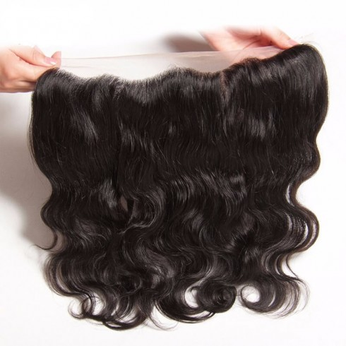 Virgin Malaysian Hair Natural Wave Frontal