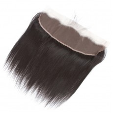 Virgin Peruvian Hair Kinky Straight Frontal