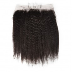 Virgin Indian Hair Kinky Straight Frontal