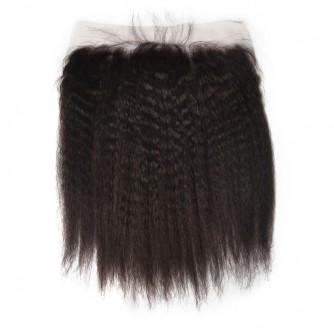 Virgin Indian Hair Kinky Straight Frontal
