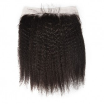Virgin Malaysian Hair Kinky Straight Lace Frontal