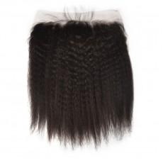 Virgin Peruvian Hair Kinky Straight Frontal