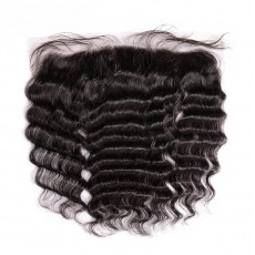 Virgin Peruvian Hair Loose Curly Frontal