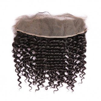 Virgin Indian Hair Deep Wave Frontal