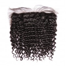 Virgin Peruvian Hair Kinky Curly Frontal