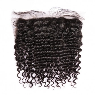 Virgin Peruvian Hair Deep Wave Frontal