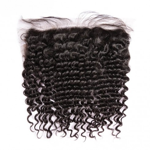 Virgin Indian Hair Deep Curly Frontal